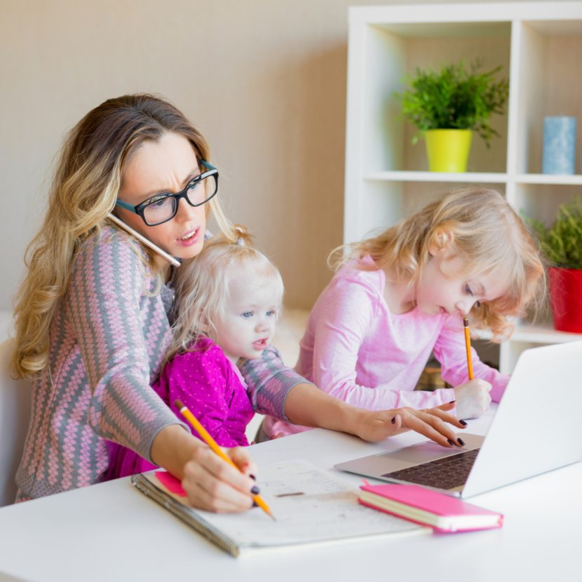 shutterstock 1070125520 1 830x830 - Juggling Working From Home With Children